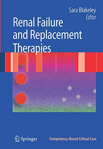 9781846289378: Renal Failure and Replacement Therapies