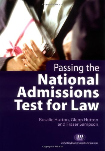 9781846410017: Passing the National Admissions Test for Law (Student Guides)