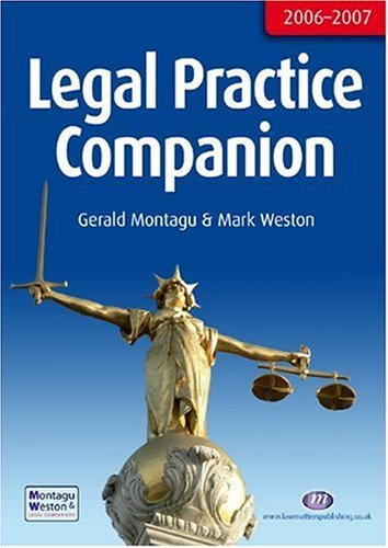 9781846410291: Legal Practice Companion 2006-7 (Legal Practice Companions)
