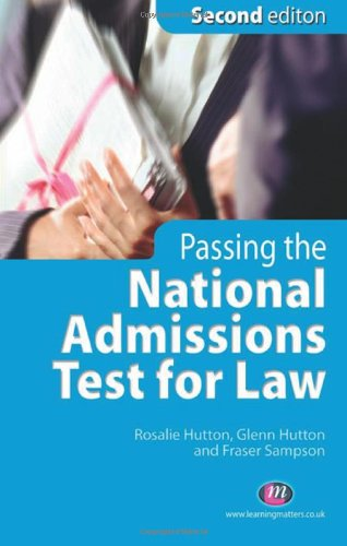 9781846410550: Passing the National Admissions Test for Law (LNAT): Second Edition (Student Guides to University Entrance Series)