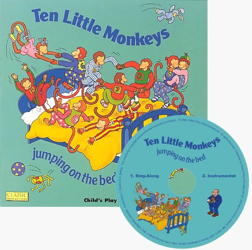 9781846433863: Ten Little Monkeys (Classic Books with Holes UK Soft Cover with CD)