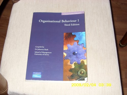 9781846584121: Organisational Behaviour 1