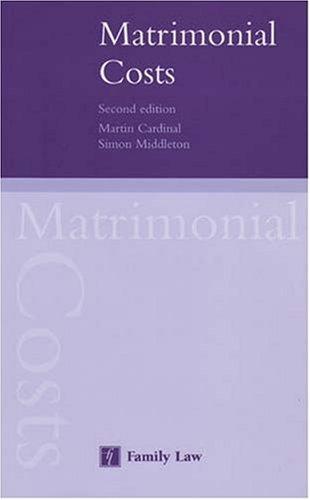 Matrimonial Costs: Martin Cardinal and