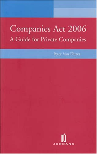 9781846610387: Companies Act: A Guide for Private Companies