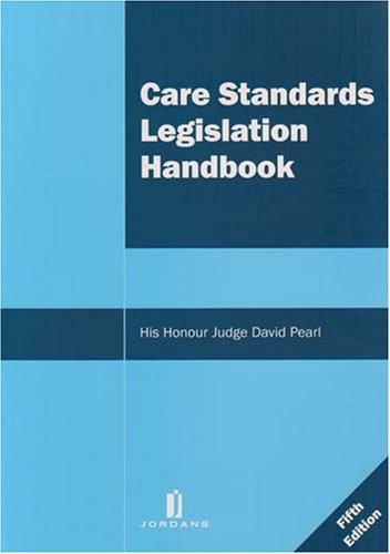 9781846610646: Care Standards Legislation Handbook: Fifth Edition