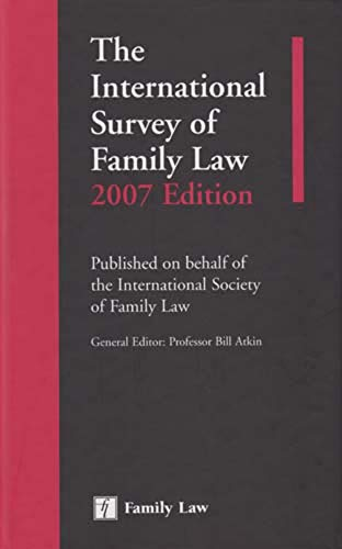9781846610660: The International Survey of Family Law: 2007 Edition