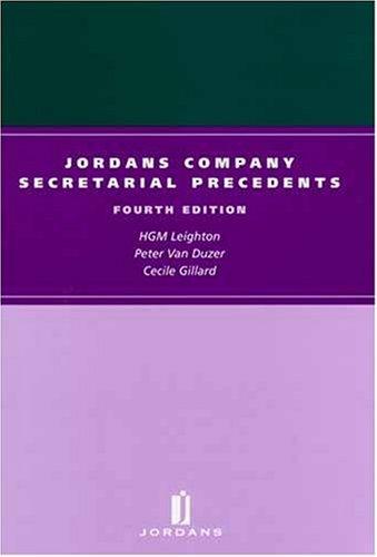 Jordans Company Secretarial Precedents: Cecile Gillard