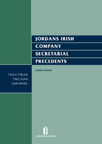 9781846611896: Jordans Irish Company Secretarial Precedents: Fourth Edition