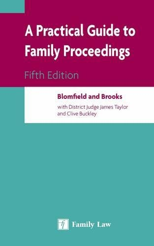 9781846612756: A Practical Guide to Family Proceedings: Fifth Edition