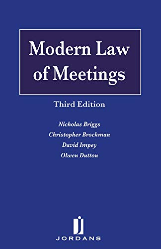 Modern Law of Meetings - Third Edition