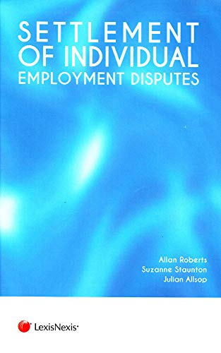 9781846615566: Settlement of Individual Employment Disputes