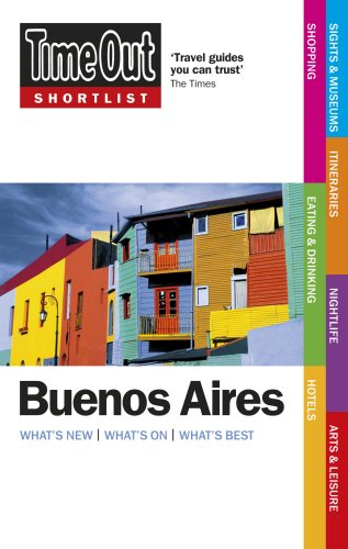 9781846701597: Time Out Shortlist Buenos Aires