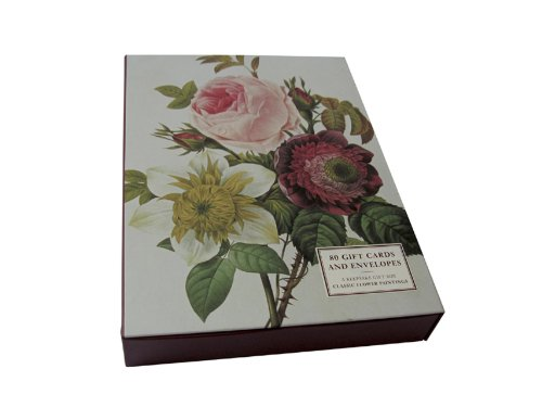 9781846817410: Redoute Classic Flower Paintings' Big Card Box of 80 Gift Cards and Envelopes:: A Supersized Box Of 80 Beautiful Fine Art Gift Cards And Envelopes