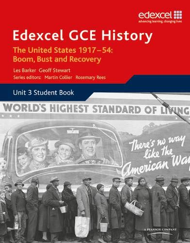 Edexcel GCE History A2 Unit 3 C2 the United States 1917-54: Boom Bust & Recovery: Rees, Martin