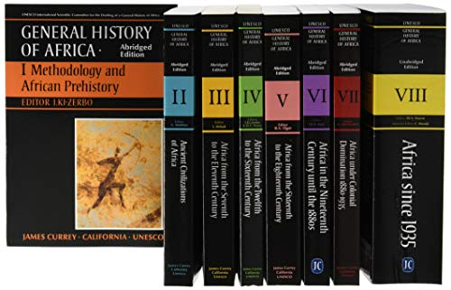 9781847012326: General History of Africa Complete Set of Vols 1-8 (pbks)