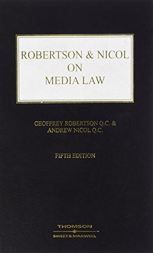 Robertson & Nicol on Media Law (Hardcover): Andrew Nicol