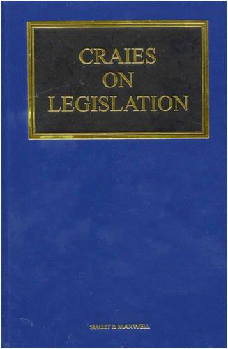 9781847031389: Craies on Legislation