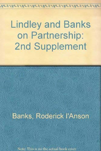 Lindley and Banks on Partnership: 2nd Supplement: Roderick I'Anson Banks