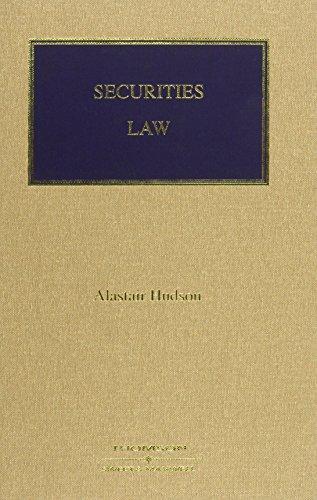 9781847033291: Securities Law