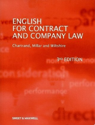 9781847034465: English for Contract and Company Law