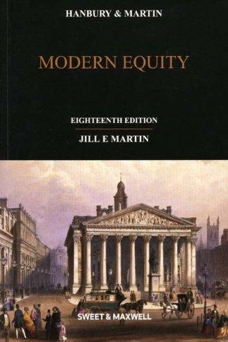 9781847035127: Hanbury and Martin: Modern Equity