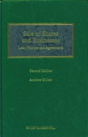 9781847036032: Sale of Shares and Businesses: Law, Practice and Agreements