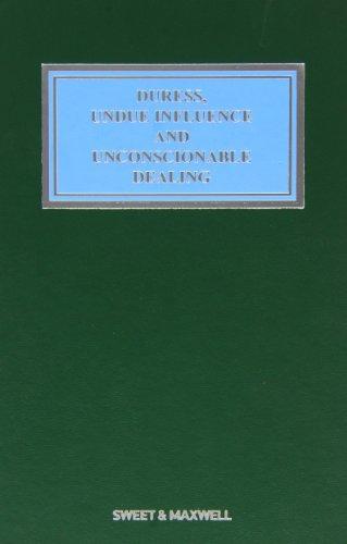 9781847038036: Duress, Undue Influence and Unconscionable Dealing