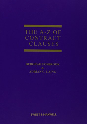 9781847038128: The A-Z of Contract Clauses