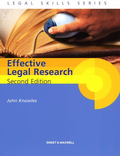 9781847038180: Effective Legal Research