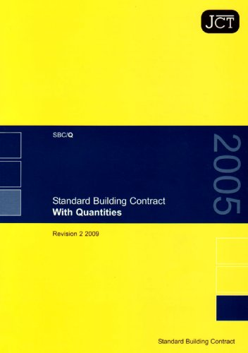 9781847039392: JCT: Standard Building Contract With Quantities Revision 2 2009