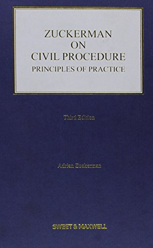 9781847039606: Zuckerman on Civil Procedure: Principles of Practice