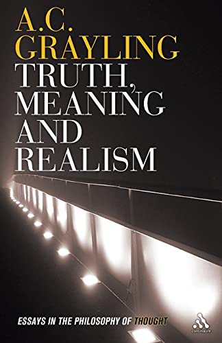 9781847061546: Truth, Meaning and Realism: Essays in the Philosophy of Thought