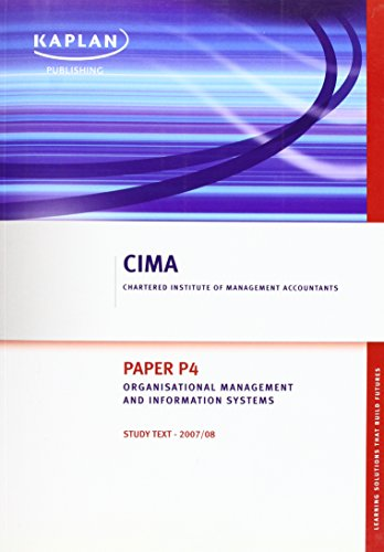 9781847104151: Organisational Management and Information Systems - Study Text: Paper P4