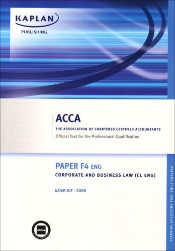 9781847104816: F4 Corporate and Business Law CL (UK): Exam Kit (Acca)