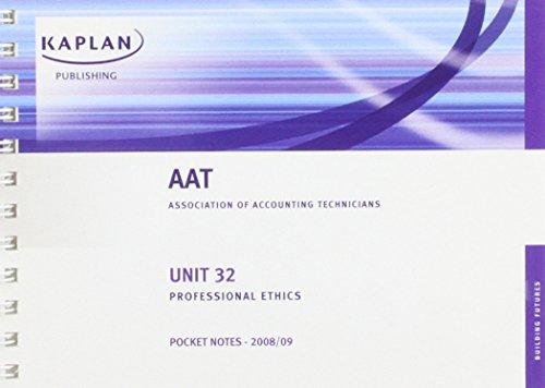 Professional Ethics: Pocket Notes Unit 32
