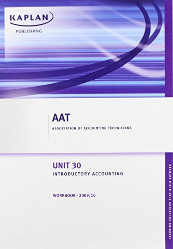 9781847108234: Unit 30 Introductory Accounting - Workbook