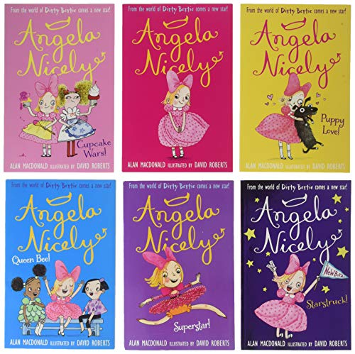 9781847150363: Angela Nicely Collection By Alan MacDonald and David Roberts 6 Books Set (Angela Nicely, Queen Bee, Superstar, Puppy Love, Starstruck, Cupcake Wars) (Dirty Bertie Sister)