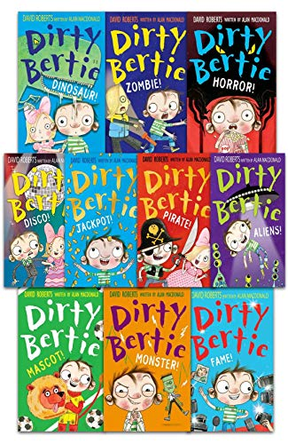 9781847157331: Dirty Bertie - Series 3 - David Roberts 7 Books Collection Set (Jackpot, Horror, My Book of Stuff, Dinosaur, My Joke Book, Zombie, Pirate) by David Roberts (2015-05-03)