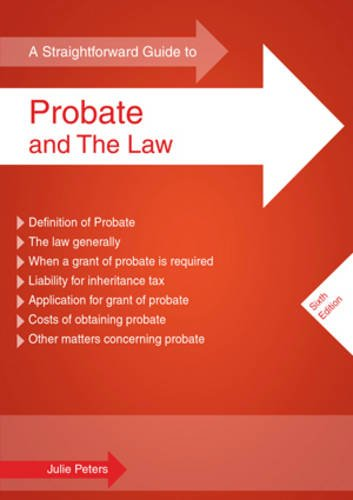 9781847161994: Straightforward Guide to Probate and the Law