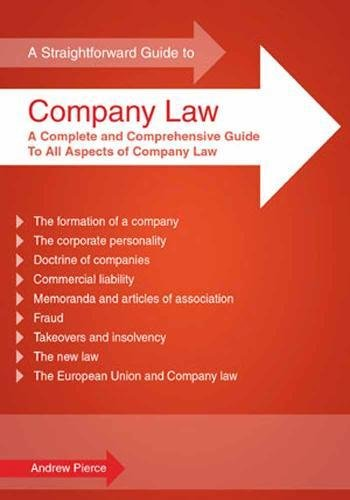 9781847162342: Straightforward Guide to Company Law
