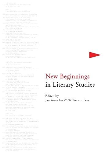 9781847185945: New Beginnings in Literary Studies