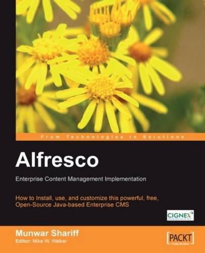 9781847190055: Alfresco Enterprise Content Management Implementation