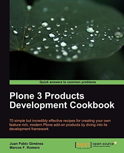 9781847196729: Plone 3 Products Development Cookbook