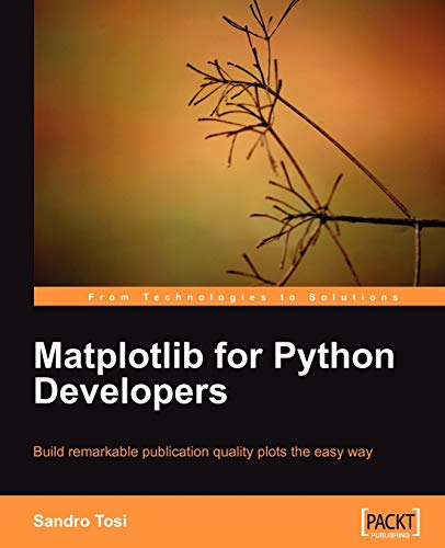 9781847197900: Matplotlib for Python Developers