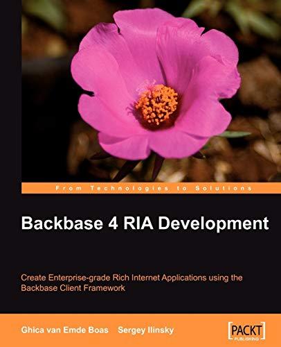 Backbase 4 RIA Development: Ghica van Emde Boas