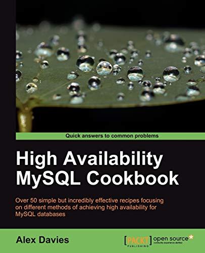 9781847199942: High Availability MySQL Cookbook