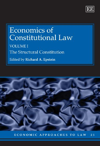 9781847201133: Economics of Constitutional Law (Economic Approaches to Law)