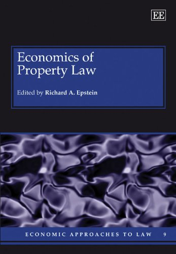 9781847201140: Economics of Property Law (Economic Approaches to Law Series)