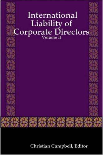 9781847281197: International Liability of Corporate Directors - Volume II