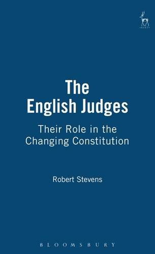 9781847312600: The English Judges: Their Role in the Changing Constitution